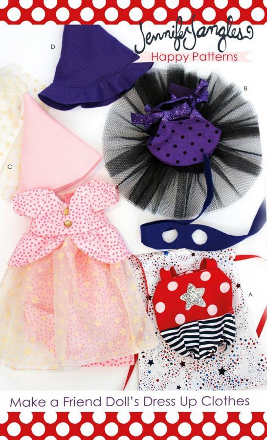 Make a Friend Dress Up Clothes sewing pattern from Jennifer Jangles