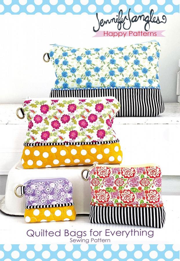 Quilted Bags for Everything sewing pattern from Jennifer Jangles