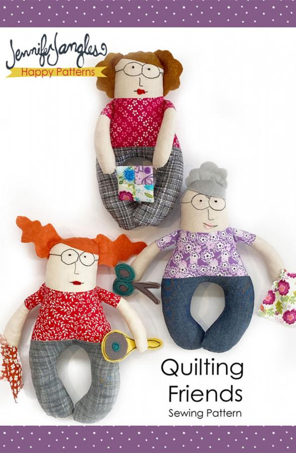 Quilting Friends softie sewing pattern from Jennifer Jangles