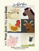 Baby Farm Animals quilt sewing pattern from Jennifer Jangles