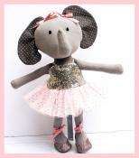 Elena the Ballerina Elephant Make a Friend doll sewing pattern from Jennifer Jangles 2