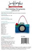 Felt Holiday Ornaments Hobby and Craft sewing pattern from Jennifer Jangles 1