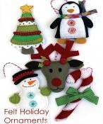 Felt Holiday Ornaments sewing pattern from Jennifer Jangles 3
