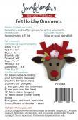 Felt Holiday Ornaments sewing pattern from Jennifer Jangles 1