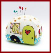 INVENTORY REDUCTION...Happy Camper Pincushion KIT & sewing pattern from Jennifer Jangles 2