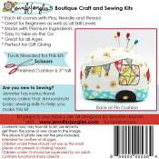 INVENTORY REDUCTION...Happy Camper Pincushion KIT & sewing pattern from Jennifer Jangles 1