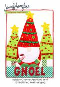 Holiday Gnome Applique and Embellished Wall Hanging sewing pattern from Jennifer Jangles