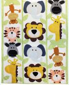 Jungle Buddies Applique quilt sewing pattern from Jennifer Jangles 2