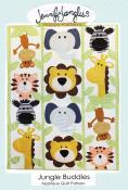 Jungle Buddies Applique quilt sewing pattern from Jennifer Jangles