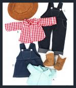 Make a Friend Farmer and Cow Girl Clothes sewing pattern from Jennifer Jangles 2