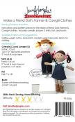 Make a Friend Farmer and Cow Girl Clothes sewing pattern from Jennifer Jangles 1