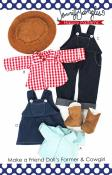 Make a Friend Farmer and Cow Girl Clothes sewing pattern from Jennifer Jangles