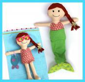 Megan Mermaid Make a Friend doll sewing pattern from Jennifer Jangles 2