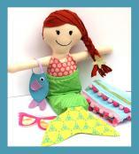 Megan Mermaid Make a Friend doll sewing pattern from Jennifer Jangles 3