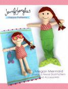 Megan Mermaid Make a Friend doll sewing pattern from Jennifer Jangles