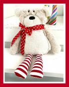 Mr. Socks Stuffed Bear soft toy sewing pattern from Jennifer Jangles 3
