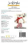 Mr. Socks Stuffed Bear soft toy sewing pattern from Jennifer Jangles 1