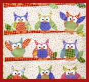 Okey Dokey Owl and Friends Applique quilt sewing pattern from Jennifer Jangles 2