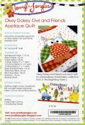 Okey Dokey Owl and Friends Applique quilt sewing pattern from Jennifer Jangles 1