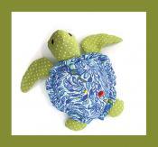Sea Turtle Pincushion & Thread Catcher sewing pattern from Jennifer Jangles 2