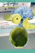 Sea Turtle Pincushion & Thread Catcher sewing pattern from Jennifer Jangles