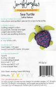 Sea Turtle Softie soft toy sewing pattern from Jennifer Jangles 1