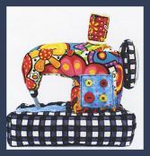 Sewing Machine Pincushion sewing pattern from Jennifer Jangles 2
