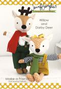 Willow and Darby Deer Make a Friend Doll/Soft Toy sewing pattern from Jennifer Jangles