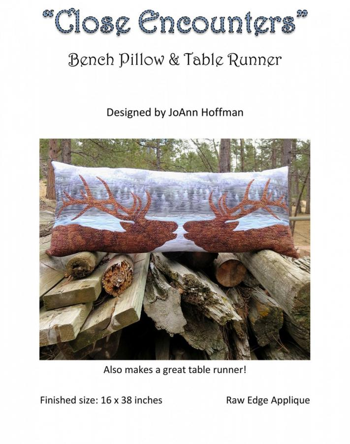 Close Encounters Bench Pillow & Table Runner sewing pattern from JoAnn Hoffman Designs