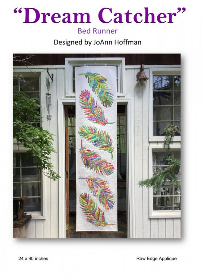 Dream Catcher Bed Runner sewing pattern from JoAnn Hoffman Designs