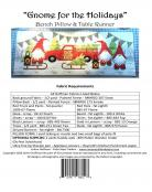Gnome for the Holidays Bench Pillow & Table Runner sewing pattern from JoAnn Hoffman Designs 1
