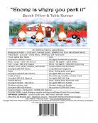 SPOTLIGHT SPECIAL...Gnome Is Where You Park It Table Runner & Bench Pillow sewing pattern from JoAnn Hoffman Designs 1