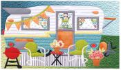 Happy Glamper Bench Pillow & Table Runner sewing pattern from JoAnn Hoffman Designs 3