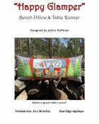 Happy Glamper Bench Pillow & Table Runner sewing pattern from JoAnn Hoffman Designs