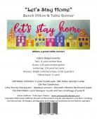 Let's Stay Home Bench Pillow and Table Runner sewing pattern from JoAnn Hoffman Designs 1