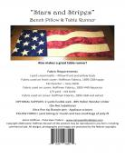 Stars and Stripes Bench Pillow sewing pattern from JoAnn Hoffman Designs 1