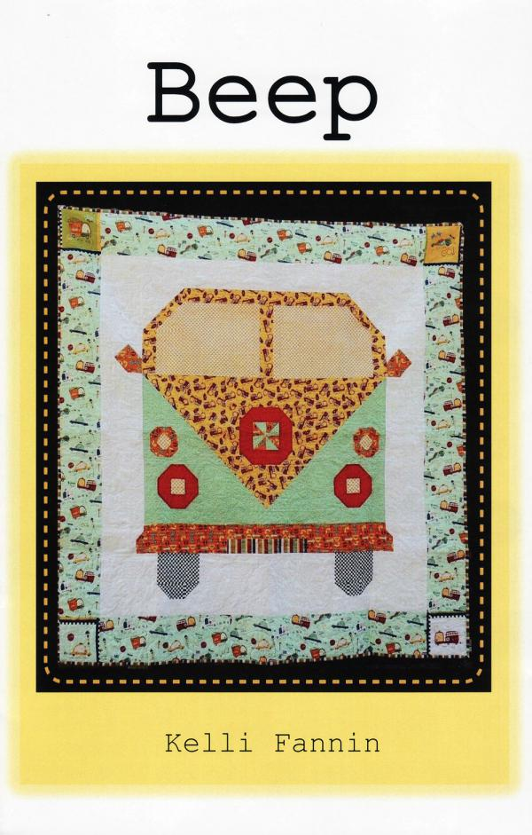 Beep quilt sewing pattern from Kelli Fannin Quilt Designs