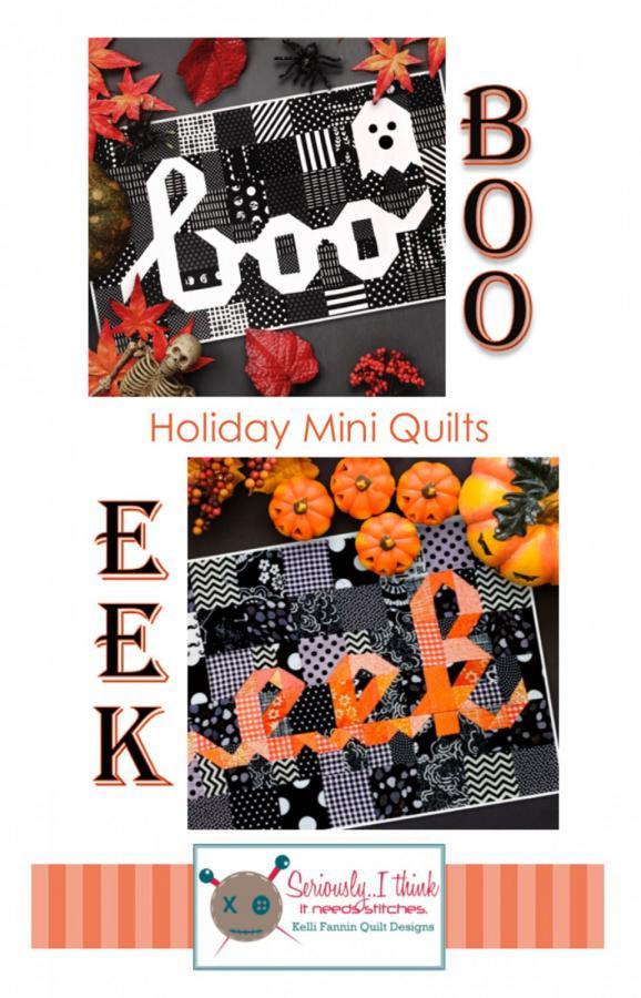 Boo Eek Mini quilt sewing pattern from Kelli Fannin Quilt Designs
