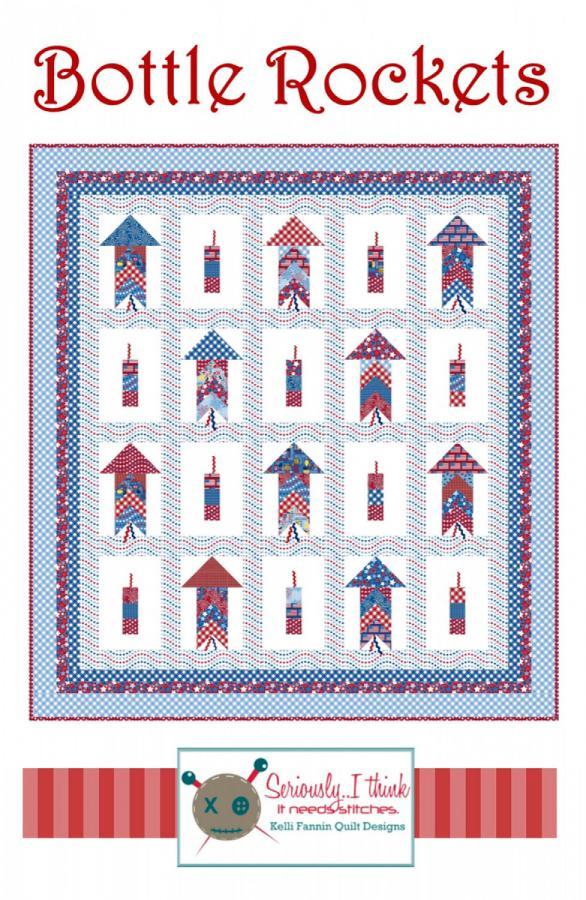 Bottle Rockets quilt sewing pattern from Kelli Fannin Quilt Designs