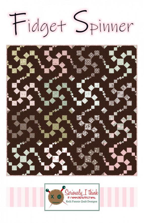 Fidget Spinner quilt sewing pattern from Kelli Fannin Quilt Designs