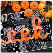 Boo Eek Mini quilt sewing pattern from Kelli Fannin Quilt Designs 3