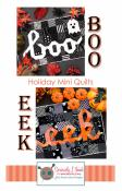Boo Eek Mini quilt sewing pattern from Kelli Fannin Quilt Designs