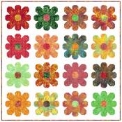 Flower Power quilt sewing pattern from Kelli Fannin Quilt Designs 2