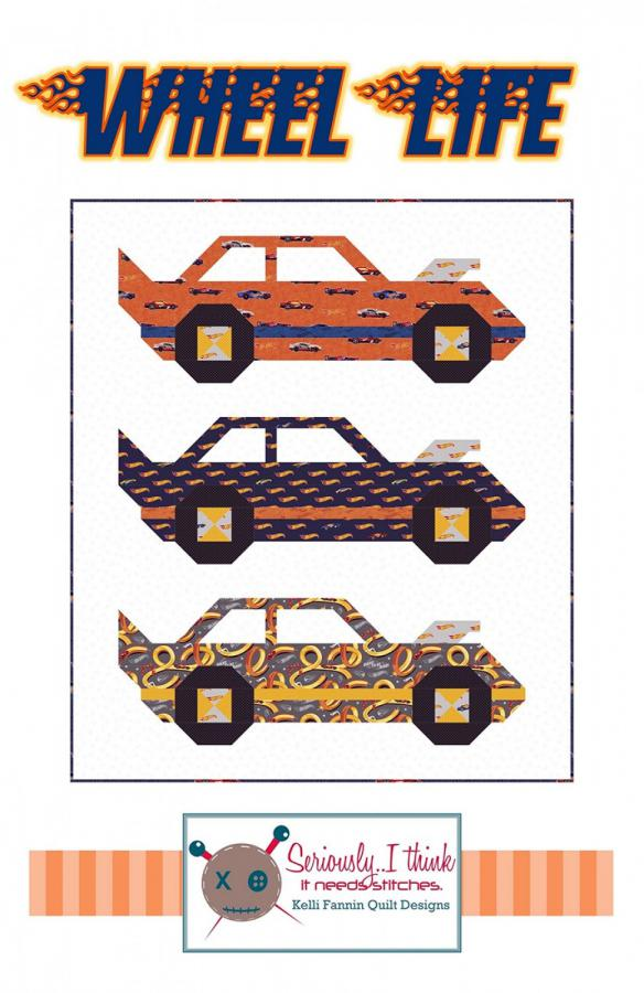 Wheel Life quilt sewing pattern from Kelli Fannin Quilt Designs