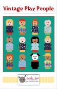 Vintage Play People quilt sewing pattern from Kelli Fannin Quilt Designs