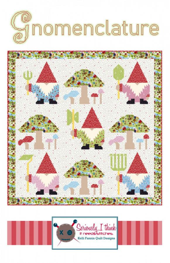 Gnomenclature quilt sewing pattern from Kelli Fannin Quilt Designs