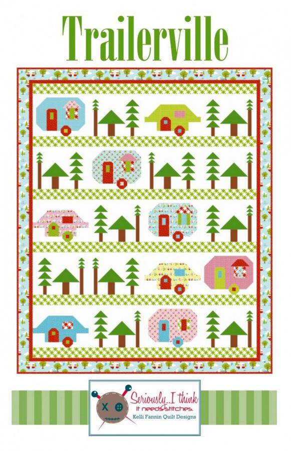 Trailerville quilt sewing pattern from Kelli Fannin Quilt Designs