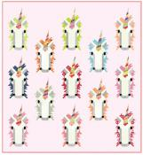 Unicorn Scrappuccino quilt sewing pattern from Kelli Fannin Quilt Designs 2