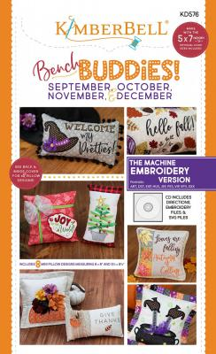 CLOSEOUT...Bench Buddies Series Sept.-Dec. Machine Embroidery CD from KimberBell Designs