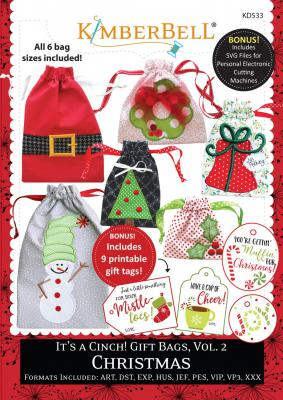 INVENTORY REDUCTION...It's a Cinch Gift Bags Vol. 2: Christmas CD from KimberBell Designs